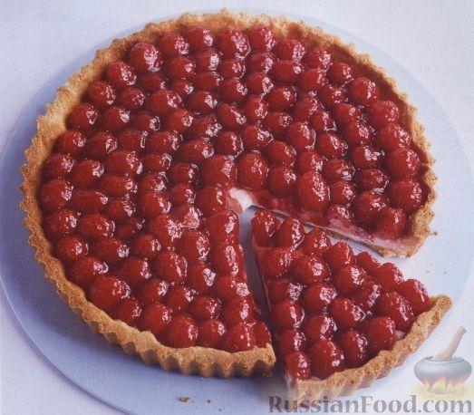 Открытый пирог с малиной и сметаной рецепт 82