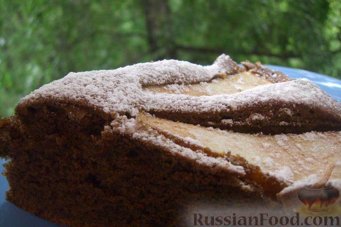 Рецепт Шоколадно-кофейный пирог с грушей