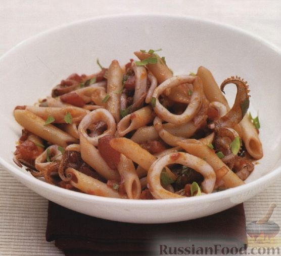 Рецепт Макароны с морепродуктами