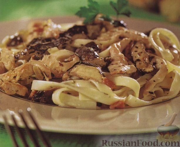 Рецепт Тальятелле в сливочном соусе с куриным филе