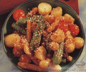 Рецепт Пикантные жареные овощи