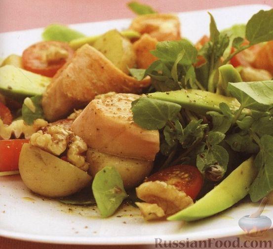 Рецепт Салат из лосося, картофеля и зелени