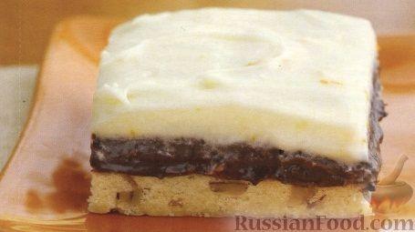 Рецепт Сливочно-шоколадный пирог с орехами
