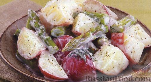 Рецепт Картофельный салат со спаржей