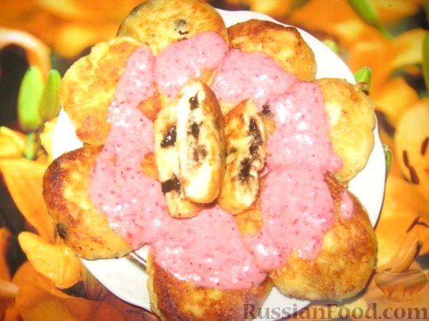 Рецепт Сырники с шоколадом и ягодным соусом