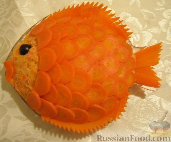 """Рецепт Салат """"Золотая рыбка"""""""