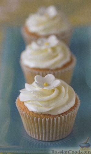 Рецепт Мафины с лимонным кердом и сливочным кремом