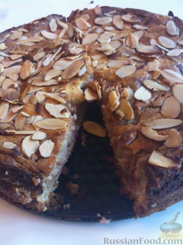 Рецепт Клубнично-миндальный пирог