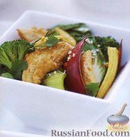 Фото к рецепту: Куриное филе, жаренное с овощами