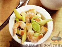 Фото к рецепту: Салат с креветками и грушами