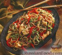 Фото к рецепту: Лапша собу с грибами и овощами
