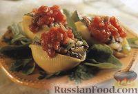 Фото к рецепту: Макароны, фаршированные мясом и овощами