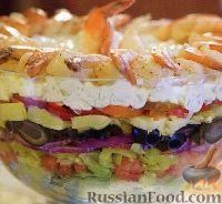 Фото к рецепту: Слоеный греческий салат