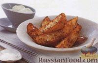 Фото к рецепту: Печеный картофель с сырной пастой