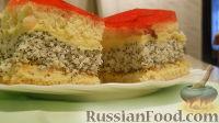 Фото к рецепту: Пирожное маково-кокосовое