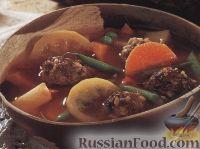 Фото к рецепту: Овощной суп с тефтелями