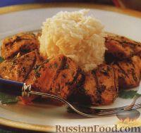 Фото к рецепту: Куриное филе в ароматном маринаде, жаренное под грилем