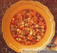Фото к рецепту: Мясной суп с кукурузой