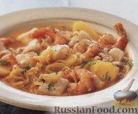 Фото к рецепту: Средиземноморский суп с морепродуктами