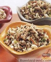 Фото к рецепту: Салат из риса и куриного филе
