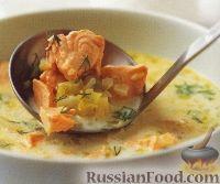 Фото к рецепту: Сливочный суп с семгой