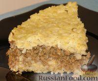 Фото к рецепту: Запеканка рисовая с мясом