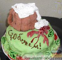 """Фото к рецепту: Тортик """"Юбилейная кружка"""""""