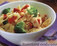 Фото к рецепту: Макароны с куриным филе и брокколи