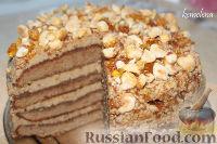 Фото к рецепту: Сливочно-кофейный торт пралине