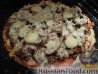 Фото к рецепту: Пицца с мясным фаршем
