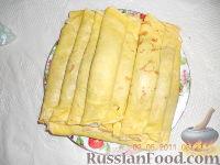 Фото к рецепту: Блины с мясом