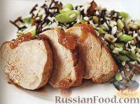 Фото к рецепту: Жареная свинина с рисом