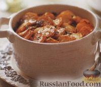 Фото к рецепту: Тефтели с картофелем, запеченные в духовке