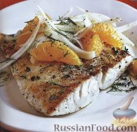 Фото к рецепту: Жареная рыба с салатом из фенхеля