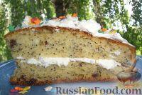 Фото к рецепту: Творожный бисквит с маком и изюмом