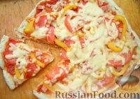 Фото к рецепту: Тонкая пицца