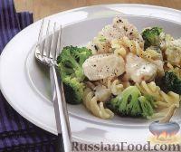 Фото к рецепту: Макароны с рыбой и брокколи