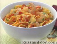 Фото к рецепту: Тальятелле с креветками
