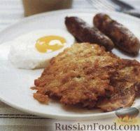 Фото к рецепту: Картофельные драники с беконом