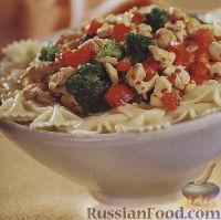 Фото к рецепту: Макароны с брокколи и болгарским перцем