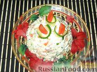 Фото к рецепту: Салат с курицей, сельдереем и свежим огурцом