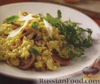Фото к рецепту: Ризотто с грибами и кешью