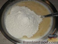 Фото приготовления рецепта: Банановый пирог - шаг №6