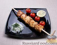 Фото к рецепту: Шашлык из курицы в чесночно-луковом маринаде
