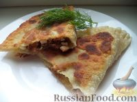 Фото к рецепту: Хачапури с мясом