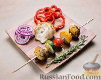 Фото к рецепту: Рецепт шашлыка из овощей или замашка на вегетарианскую кухню