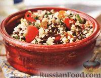 Фото к рецепту: Салат из чечевицы и кускуса