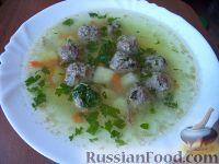 Фото к рецепту: Суп картофельный с мясными фрикадельками