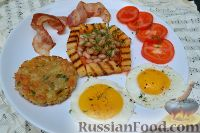 Фото к рецепту: Хашбраун и завтрак в английском стиле