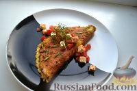 Фото к рецепту: Омлет с маскарпоне, фетой, томатами